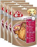 8in1 Fillets Pro Skin & Coat Größe S (funktionale Leckerlies fü Hunde, Hähnchensnack mit speziellem Nutri-Center zur Unterstützung eines glänzenden Fells und gesunder Haut), 4er Pack (4 x 80 g)
