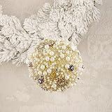Decoro Pallina Albero di Natale Shabby Chic Perle Colore Oro