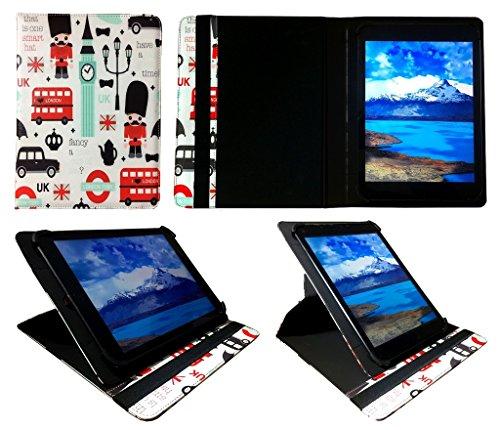 talius Platinum 90013G 24,4cm Tablet Universal 360Grad drehbar PU Leder Wallet Case Cover Folio (22,9-25,4cm) von Sweet Tech London Town 3g Leder