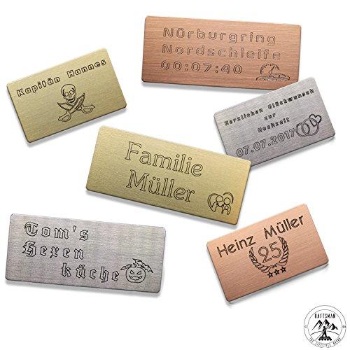 Produktbild Individuelles Geschenk Schild, Türschild, Klingelschild, Namensschild, Briefkastenschild, Pokalschild, Praxisschild, Aufzugschild, Gravurschild verwendbar inkl. Wunschtext, Logo, selbstklebend