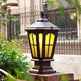 Hines European Glass Outdoor Lampe Tür Säule Laterne Lampe LED Stigma Leuchte Garten Aluminium Victorian Retro Chapiter Zaun Grenze Villa Park Spalte Lampe wasserdicht Tischleuchte
