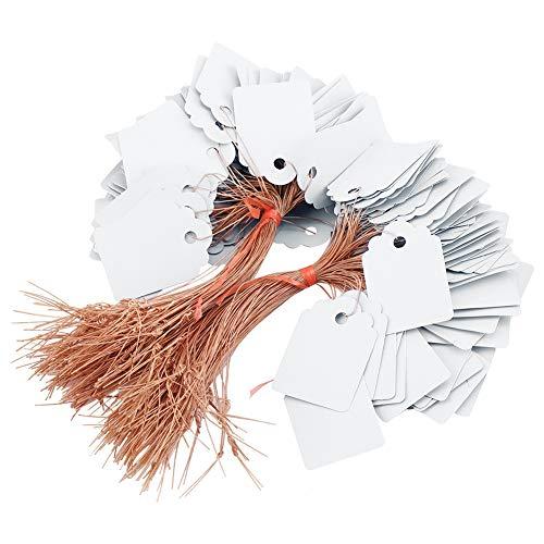 200 Stücke Pflanzenetiketten PVC Hängen Blumensamen Namensschild Label Marker Zeichen Outdoor Home Yard Pflanzenidentifikation(White) -