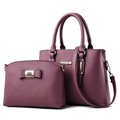 Umhängetasche - Große Europäische Und Amerikanische Modetasche Umhängetasche Mit Einer Schulter Purple Toon (Glossy Edition Mother Pack)