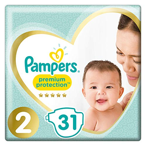 Pampers New Baby Gr.2, 3-6 kg, 31 Windeln, 4er Pack (4 x 31 Stück)