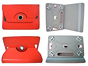 TOTTA Rotator Tab Book Cover For Samsung Galaxy Tab 3 Neo- RED