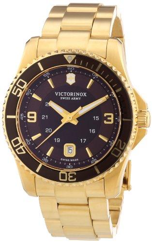 Victorinox Swiss Army Herren-Armbanduhr XL Maverick Analog Quarz Edelstahl beschichtet 241607