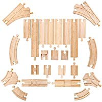 Bigjigs Rail Low Level Track Expansion - Other Major Wooden Rail Brands are Compatible