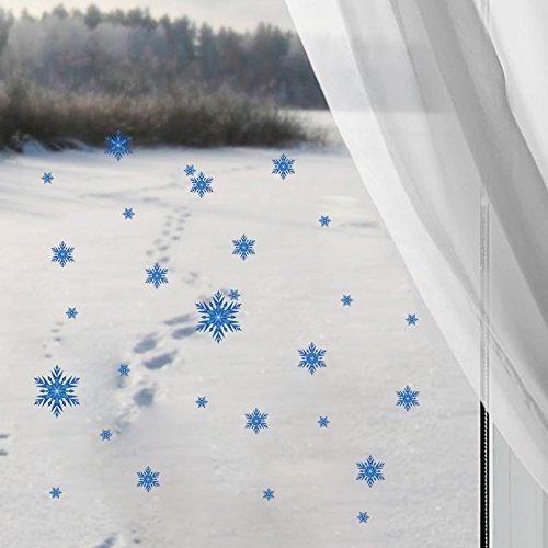 Atiehua Wandtattoos Schneeflocken Wandaufkleber Für Shop Glas Dekorationen Pvc Wände Aufkleber Weihnachten Festival Wandbild Kunst Wohnkultur