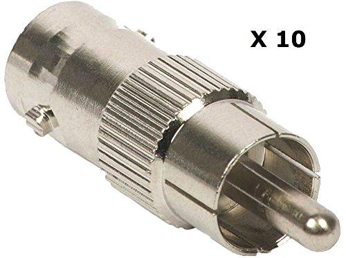BW Lot de 100 connecteurs BNC mâles à sertir
