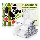 Organic Baby Washcloths - 100% Bamboo Baby Towels Set of 6 - Safe,Ultra