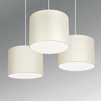 Minisun set of 3 modern cream drum pendant ceiling light minisun set of 3 modern cream drum pendant ceiling light shades with diffusers aloadofball Choice Image