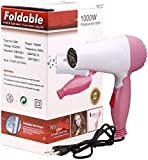 TECHICON Professional Folding 1290-B 1290 Hair Dryer With 2 Speed Control 1000W, HAIRCARE and Hair Dryer (Multicolor)