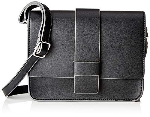 comma Damen Be Yourself Shoulderbag Shf Schultertasche, Schwarz (Black), 7x16x22 cm