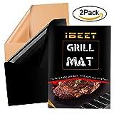 Grill Mat resistente al calore antiaderente riutilizzabile Barbecue Mats lavora su gas, carbone di legna, griglie elettriche - 2 PCS