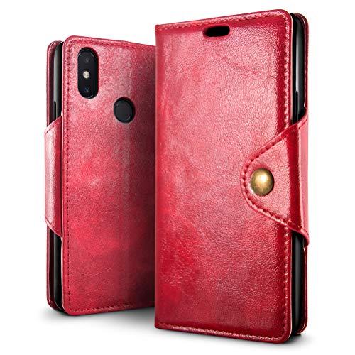SLEO Funda para Xiaomi Redmi Note 6 Pro Cuero Funda [ Ranuras para Tarjetas] [Cierre Magnético] Soporte Plegable Flip Case Protección De Cuerpo Completo Carcasa Cover