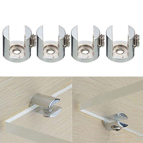 ZHENWOFC 4 stücke regale unterstützung klammern klemmen für glas holz acryl regale halten 6-10 mm Hardware-Ersatzteile - Glas-regal-hardware