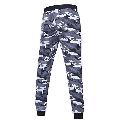 Pantaloni da uomo con coulisse e giubbotto nero mimetico all'aria aperta da uomo pantaloni sportivi con coulisse mimetici pantaloni tuta mimetici con coulisse
