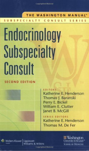 The Washington Manual® Endocrinology Subspecialty Consult (The Washington Manual® Subspecialty Consult Series) by Washington University School of Medicine Department of Medicine (2008-07-30)