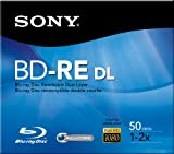 Sony BD-RE DL Blu-ray Rewritable 50 GB, 1-2x, Dual Layer