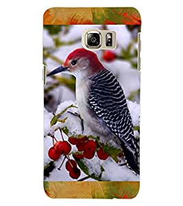 ColourCraft Lovely Bird Design Back Case Cover for SAMSUNG GALAXY S6 EDGE PLUS