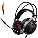 GOTD SADES SA929 Stereo Surround Wired Gaming Headset Headphone With Call Mic/Microphone, Black