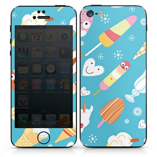 Apple iPhone 5 Case Skin Sticker aus Vinyl-Folie Aufkleber Ice Cream Süßigkeiten Eis DesignSkins® glänzend