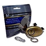 Mini Minder Key Ring Persönliche Schlüsselalarm Angriff Rape Alarm 140dB mit Fackel (Gold)