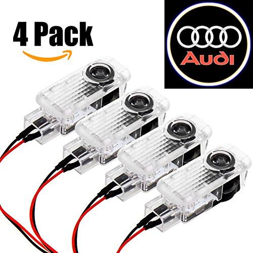 Preisvergleich Produktbild Ubegood Autotür Logo Türbeleuchtung,  Projektion Licht für Audi Serie - 4 Pack