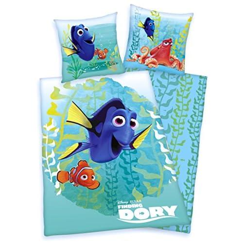 Ropa De Cama Reversible Juego Disney Buscando a Dory, 135 x 200cm 80 x 80cm, Nemo, microfibra, 4822203050 1