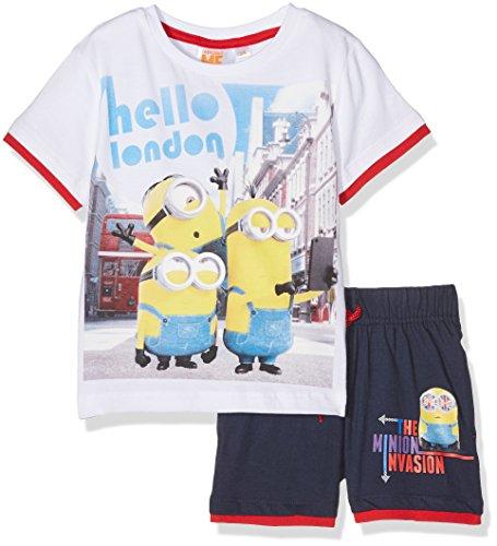 Universal Jungen Sportbekleidung Set Minions, Weiß (White White), 7-8 Jahre (Hersteller Größe:8 Jahre)