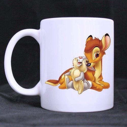 Cute Cartoon Deer faon et lapin blanc personnalisé Mug Tasse à thé 11 ml tasse de bureau/Maison imprimé sur les deux côtés)