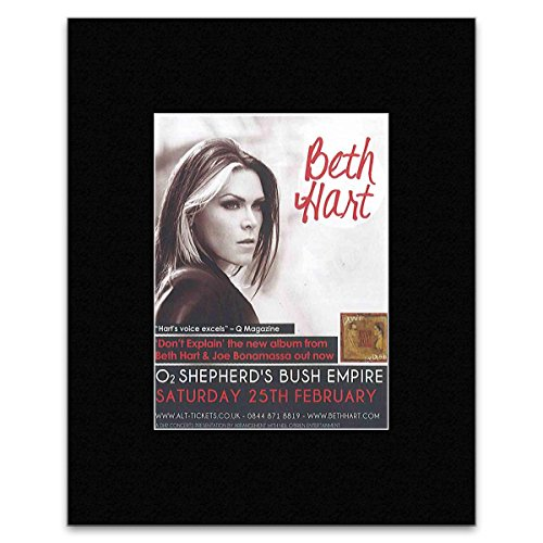 BETH HART - Shepherd\'s Bush Empire 2012 Matted Mini Poster - 13x10cm