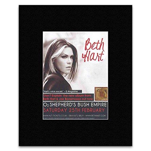 BETH HART - Shepherd\'s Bush Empire 2012 Matted Mini Poster - 13x10cm