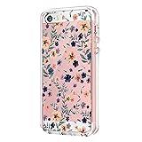 Vanki Compatible pour Coque iPhone 5/5S/SE, Simple Motif Noir et Blanc Housse...