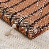 Tenda A Rullo di bambù Gialla, Tendina Parasole A Protezione Solare,1,80 * 140cm