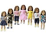 ZITA ELEMENT 7er Daily Puppen Kleidung Kleider Outfits für 35 - 46cm Babypuppe und 14-18 Zoll...