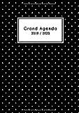 Grand Agenda 2019 2020: Agenda 2019 2020 noir   Format A4   18 Mois: Juillet 2019 - Décembre 2020    Semainier simple & graphique   Motif triangle