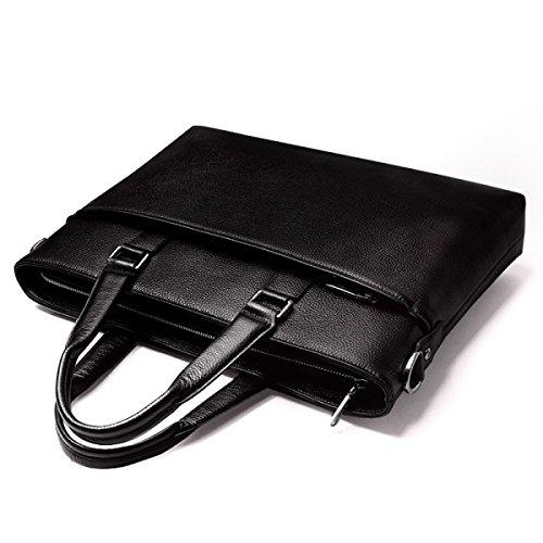 Geschäft Männer Beutel Groß-Kapazität Männer Handtasche Bundled Umhängetasche Herren Leder Tasche Aktenkoffer Gezeiten Black