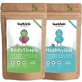 Fit-Body Pack Detox + Colon Cleanse (Darmreinigung) Tee für 14-Tage-Kur, 100% natürliche Kräuterteemischung mit gratis E-Books, perfekter Begleiter zum Abnehmen und Entgiften, 2x 60g, Made in Germany