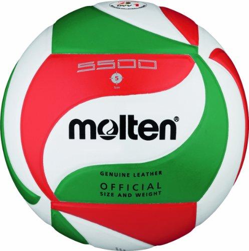 Preisvergleich Produktbild Molten Volleyball V5M5500,  Weiß / Grün / Rot,  5