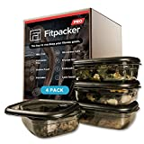 Fitpacker Pro Premium Mahlzeit Prep Behälter - Robuste Lebensmittelvorrat - Mikrowellengeeignet, Gefrierschrank Safe (33Oz - 4Pack)