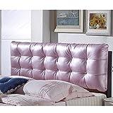 Kopfteil Kissen Leder Bett Rückenlehne Waschbar Rucksack Soft Bag Farbe Größe Optional Keil Kissen Zum Lesen,Pink-1.6m