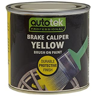 Autotek ATOOCALY250 Tin Brake Caliper Brush-On Paint, 250 ml, Yellow