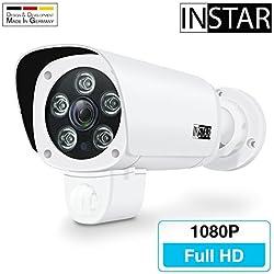 INSTAR IN-9008 Full HD weiss / IP Kamera / 1080p / ONVIF / Netzwerk / Überwachungskamera / Videokamera / Sicherheitskamera / LAN WLAN WIFI / PIR / Panasonic WDR / Bewegungserkennung / Infrarot Nachtsicht / IP65 / Weitwinkel / Mikrofon / Außenkamera / Outdoor / Webcam / P2P / DDNS