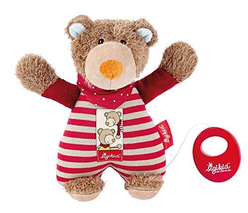 sigikid, Mädchen und Jungen, Spieluhr, Stofftier Bär, Wild & Berry Bär, Rot/Braun,  40784