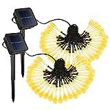 Mpow [2 Pezzi] 60 LED Lampada Solare, Luce Impermeabile IP65 da Parete, Grande Pannello Solare, 120 ° Angolo di Rilevamento, Interruttore di Luce per Il Giardino,Vialetto,Cantiere,Garage,Percorso