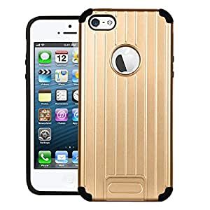 Zouk Case for Apple iPhone 5 Shock Proof Hybrid Back Cover - Gold
