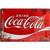 Nostalgic-Art 22235 Coca-Cola - Logo Red Wave, Blechschild 20x30 cm