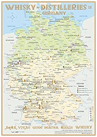 Whisky Distilleries Germany - Poster 42x60cm Standard Edition: Landkarte der