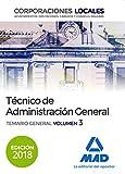 Técnico  de Administración General de Corporaciones Locales. Temario General Volumen 3